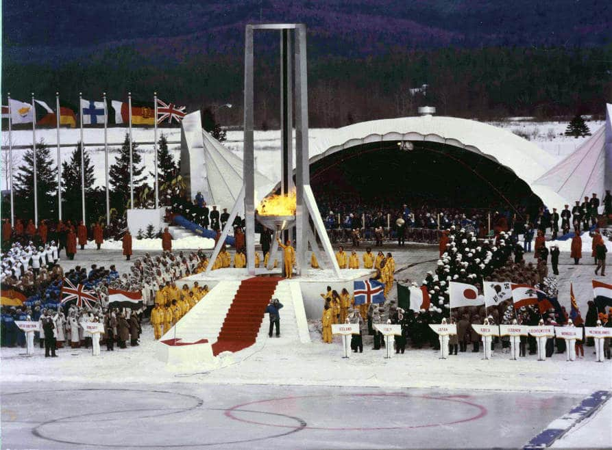 1980 Opening Ceremonies Winter Olympics - Lake Placid Airport