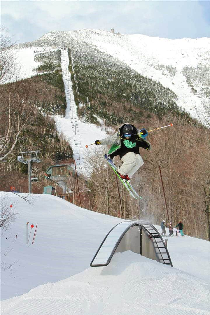 Freestyle skiing at Whitehead Mountain - Accessible through Lake Placid Airport