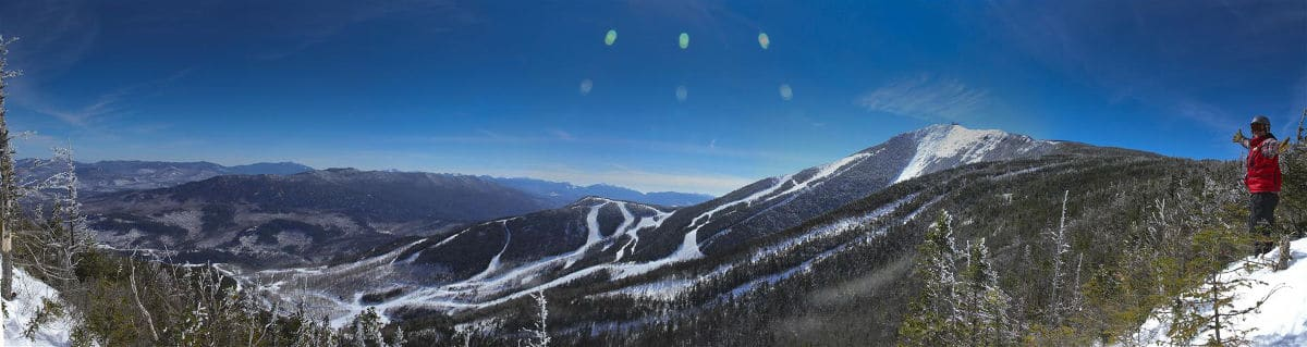 View of Whitehead Mountain and the ski runs - Accessible from the Lake Placid Airport