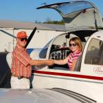 A young student pilot and her flight instructor prepare for her first solo flight. - My Discovery Flight