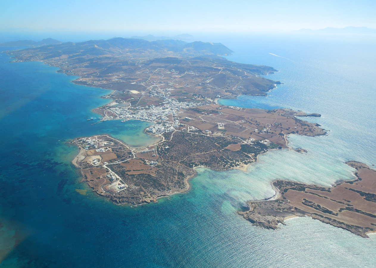 The island of Antiparos, on the way to Paros.