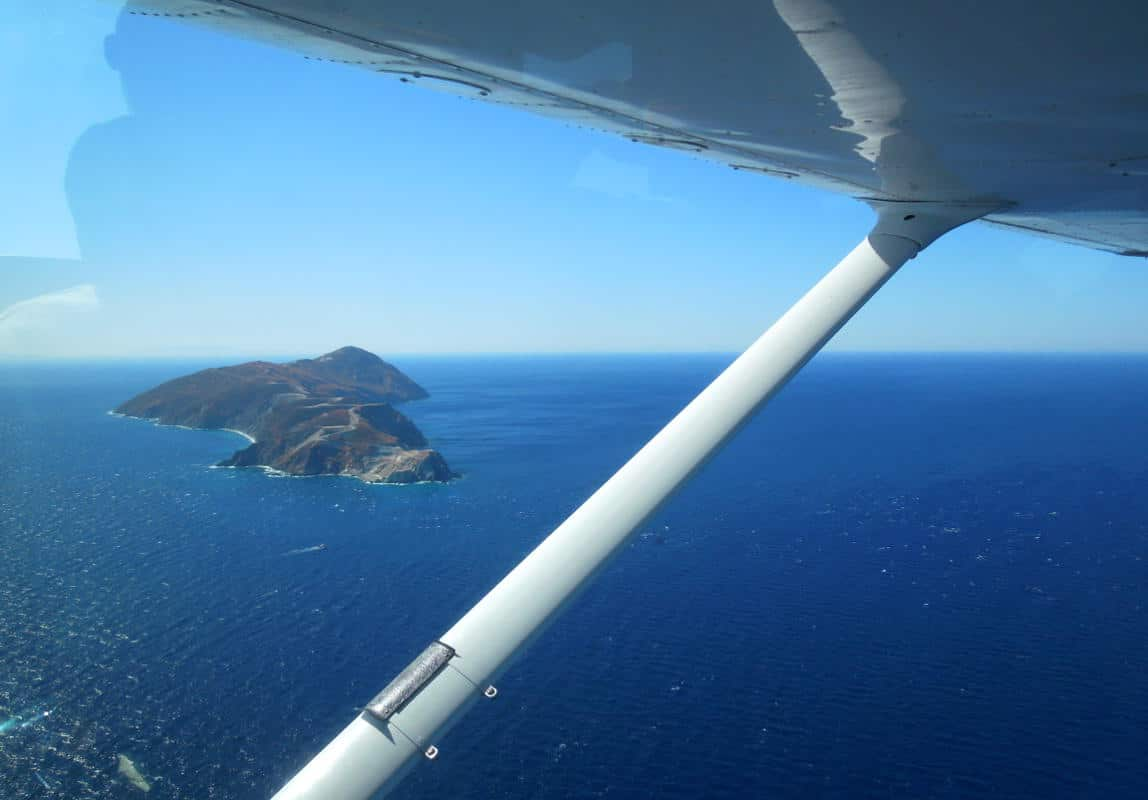 The island of Agios Georgios, on the way to Paros.