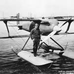 Jimmy Doolittle and the seaplane he used to win the Schneider Cup.