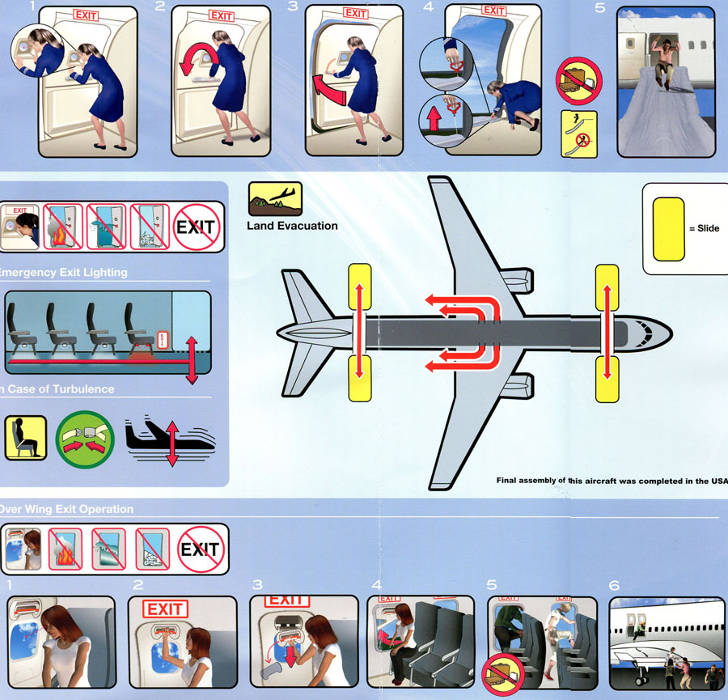 flight safety instructions in hindi