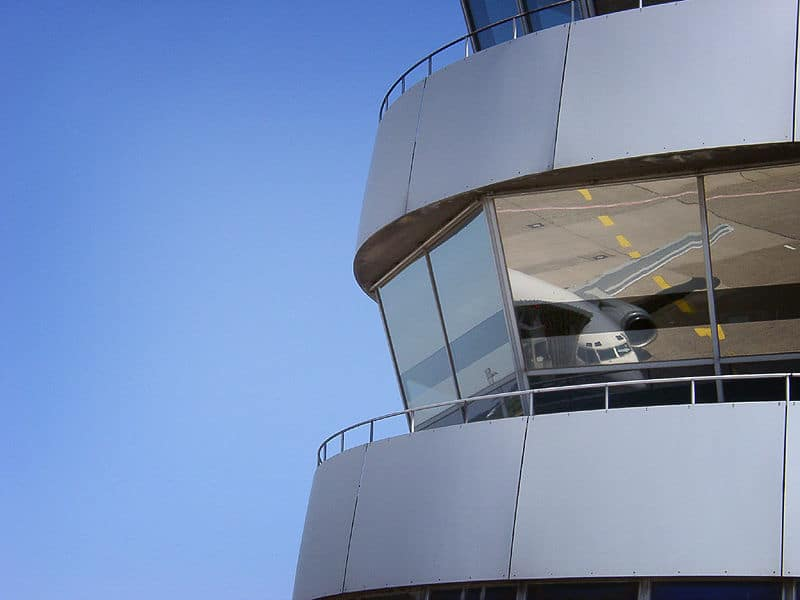Reflection in the ATC control tower window - FAA Hiring Scandal Follow Up
