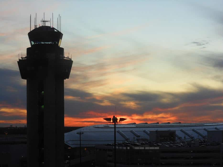 ATC tower at sunset - FAA Hiring scandal follow up