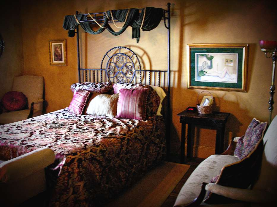 One of the hotel rooms at the Fredericksburg Brewerey, in downtown Fredericksburg TX.