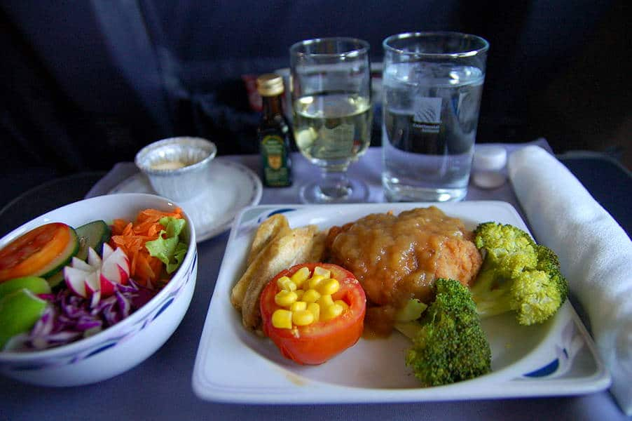 Airline dinner in first class - Airline Secrets revealed, things every traveler should know