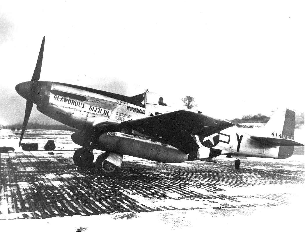 The p-51 Mustang Check Yeager flew during World War 2.