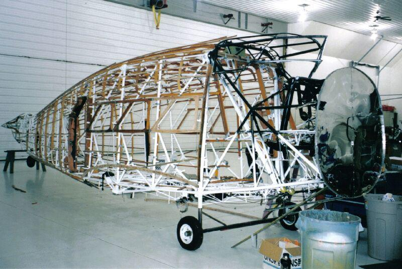 Airframe of a Stinson Model A, ready to be restored.