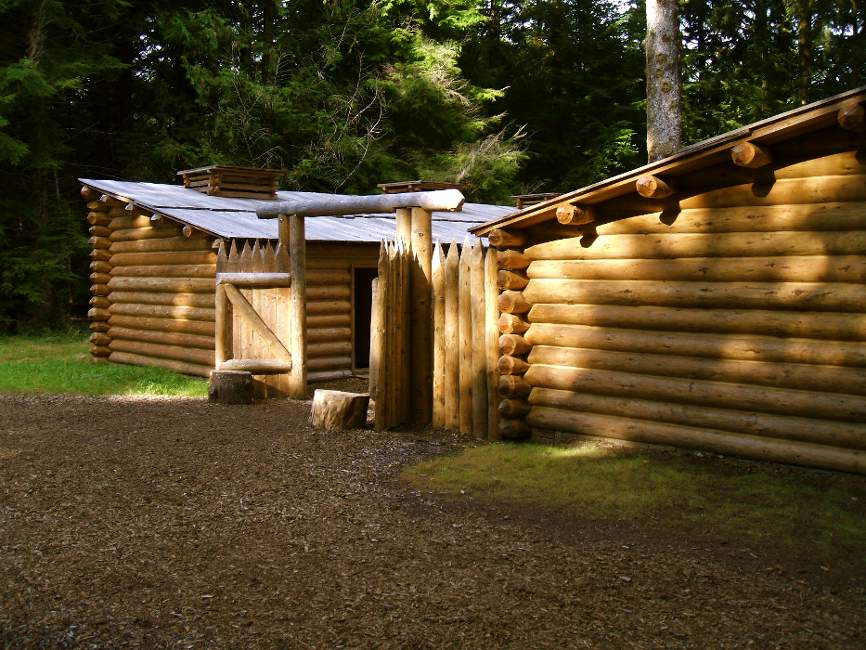 A replica of Fort Clatsop, when you visit Astoria Oregon