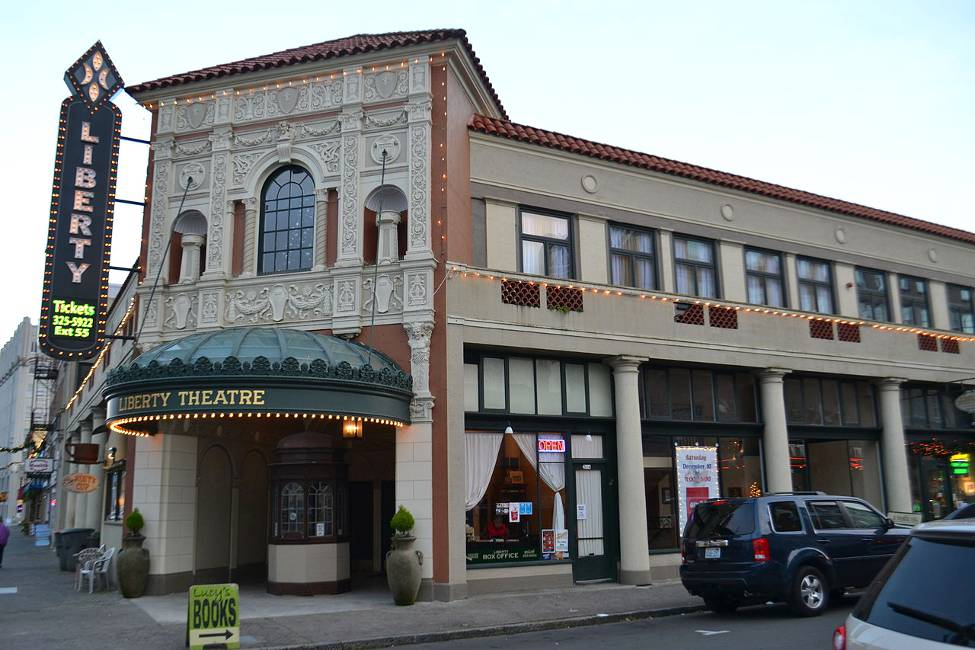 The Libert Theater, where you can take in a show whn you visit Astoria Oregon.