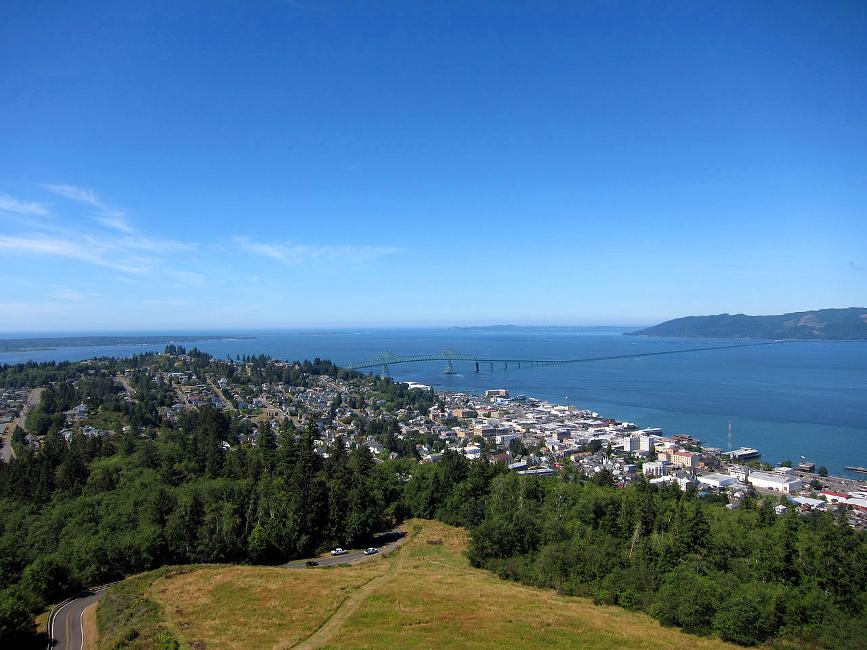 View from the Astoria column, which you can see when you visit Astoria Oregon.