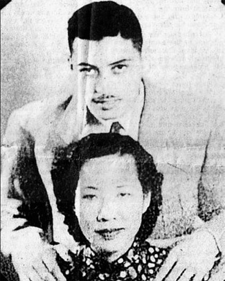 World War 2 flying ace Art Chin and his wife Eva Wu.