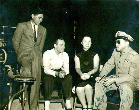 World War 2 fighter pilot Arthur Chin and movie superstar George Raft.