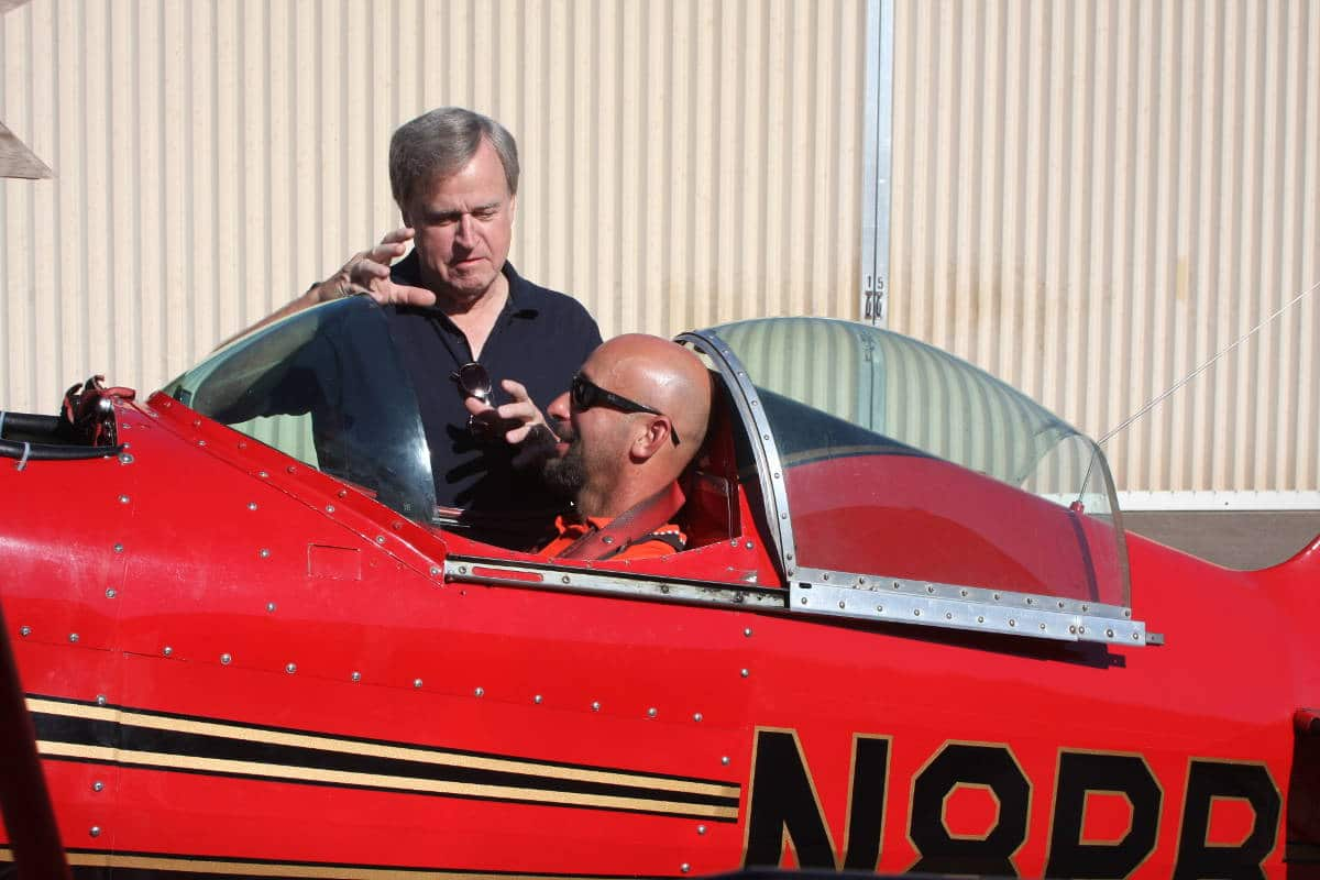CFI talking to a private pilot about flying technique.