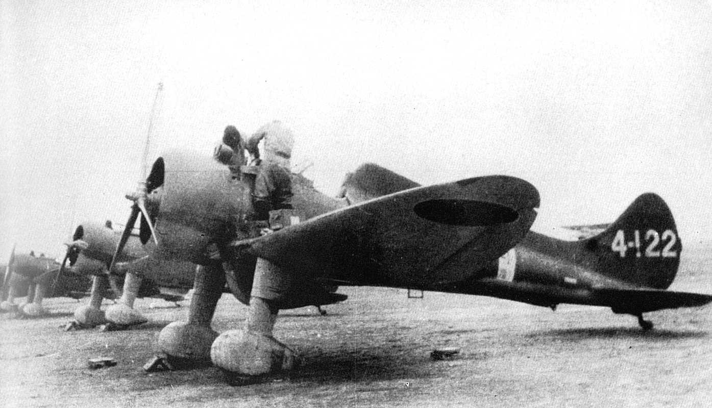 Japanese Navy Mitsubishi A5M2 fighter, used during World War 2.