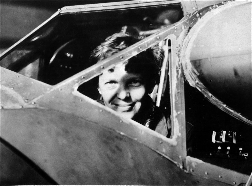 Amelia Earhart in the cockpit - What Happened to Amelia Earhart?