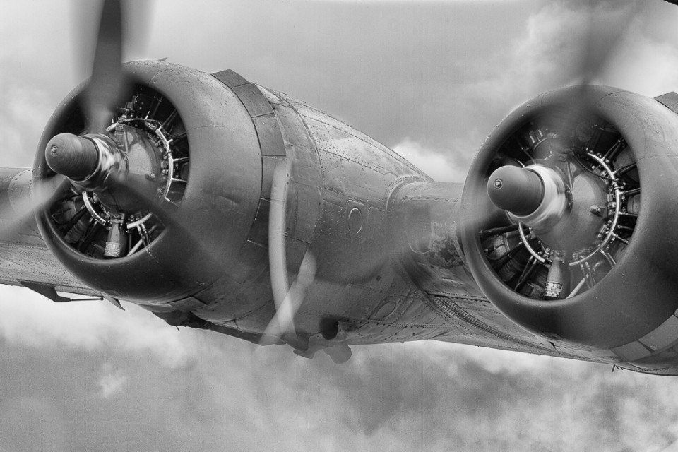 Photo of a B-17 Motor - The B-17 All American