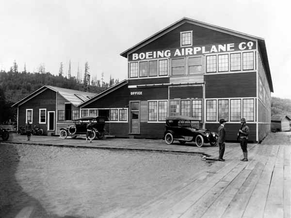 The original Boeing factory on the shore of Lake Union