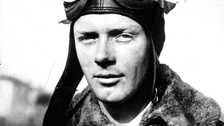 Charles Lindbergh just before his famous transatlantic flight in the Spirit of St. Louis.