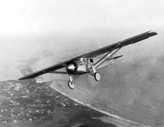 Charles Lindbergh flying the Spirit of St. Louis - Learn How to Fly an Airplane