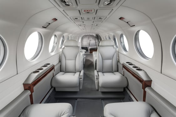 The Interior of a Beechcraft King Air 350 ER