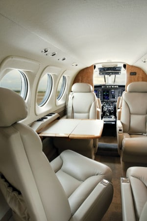 Interior of a Beechcraft King Air 90