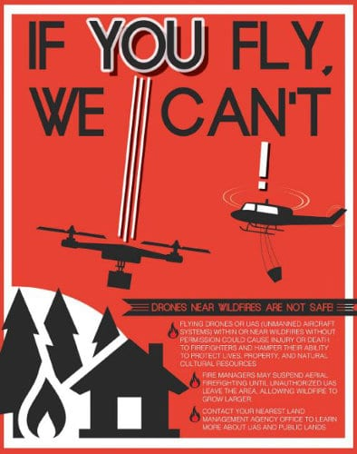 A fire air warning for unmanned aerial systems, and the UAS operator