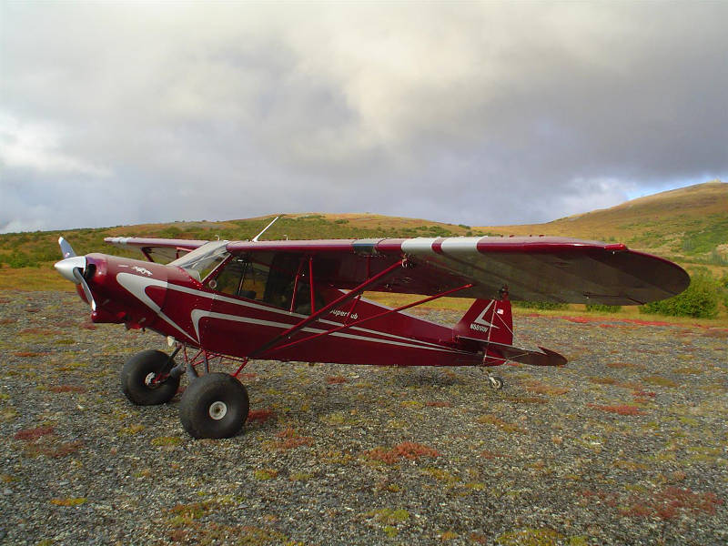 A Piper PA-18 Super Cub in the backcountry