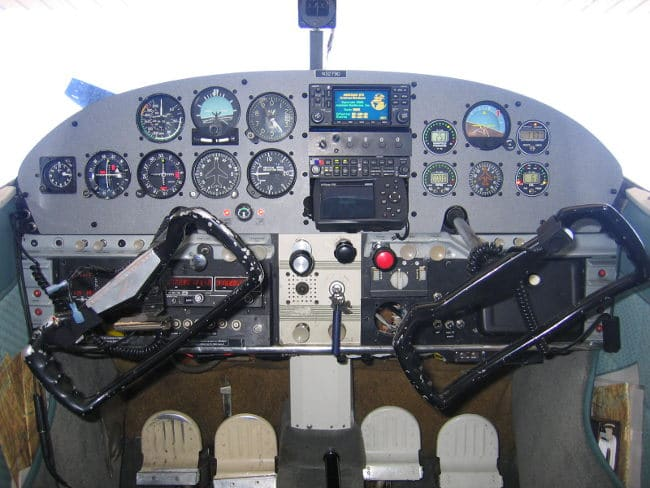 Instrument Panel in a Cessna 180 Skywagon