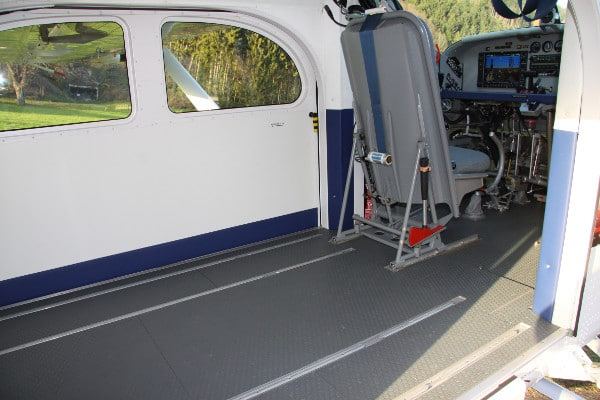Pilatus PC-6 Porter cargo area without seats