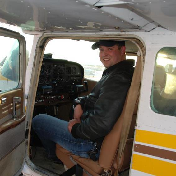 A private pilot sitting in the cockpit of a Cessna 172 - Learning to Fly With the Slovenly Pig