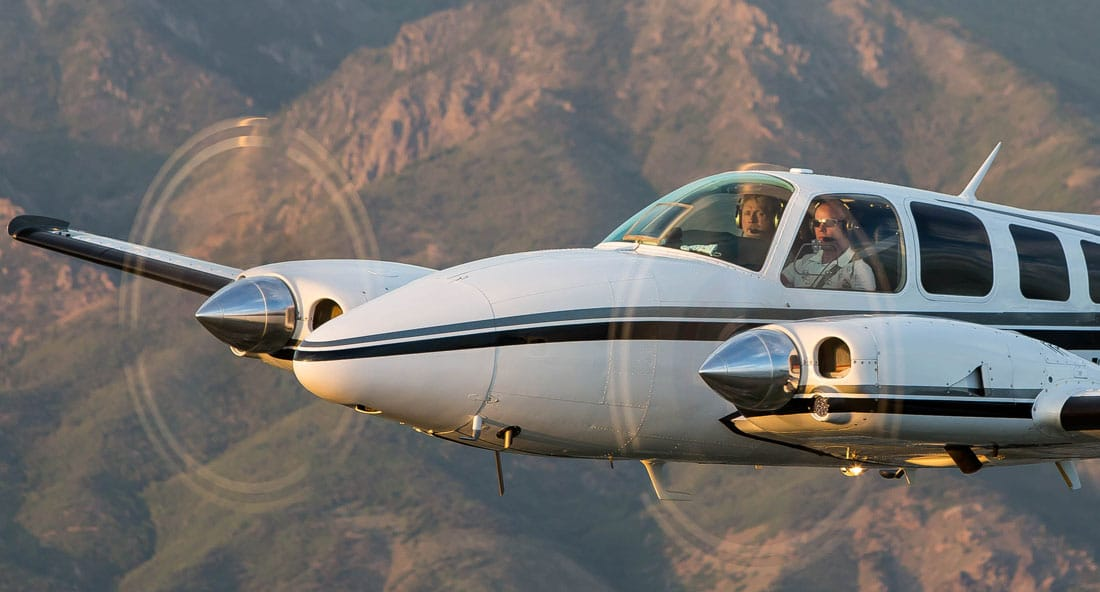 Pilots in the cockpit of a Beechcraft Baron 58TC - The 24 Traits of the Pilot Personality