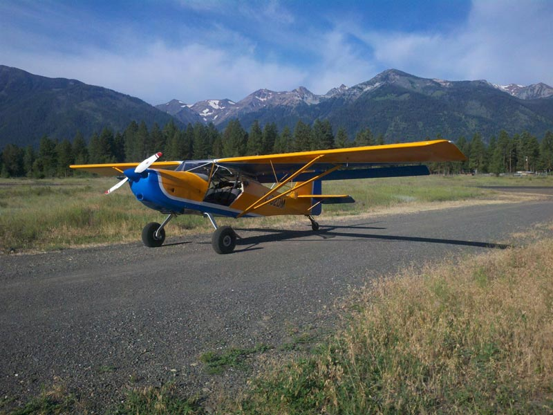 The Kitfox 7 experimental kit build at Joseph, Oregon