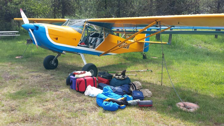 Kitfox airplane out camping