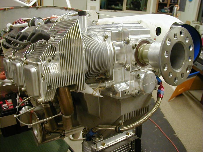 Kitfox airplane engine as it's being built