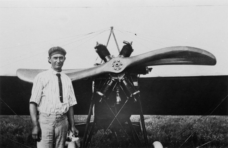 Clyde Cessna and one of his early aircraft