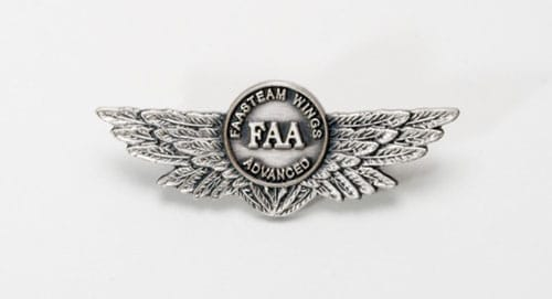 The FAA WINGS program advanced pin