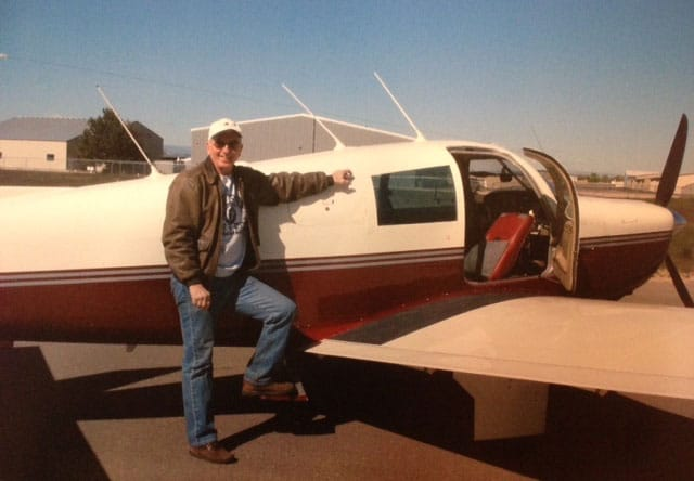 Pilot and lawyer Don Lojkek with his Mooney M20 airplane