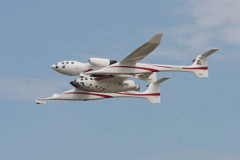 Proteus carrying SpaceShipOne in flight