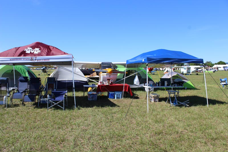 Overnight campers at the 2016 Sun N' Fun International Fly-In and Expo