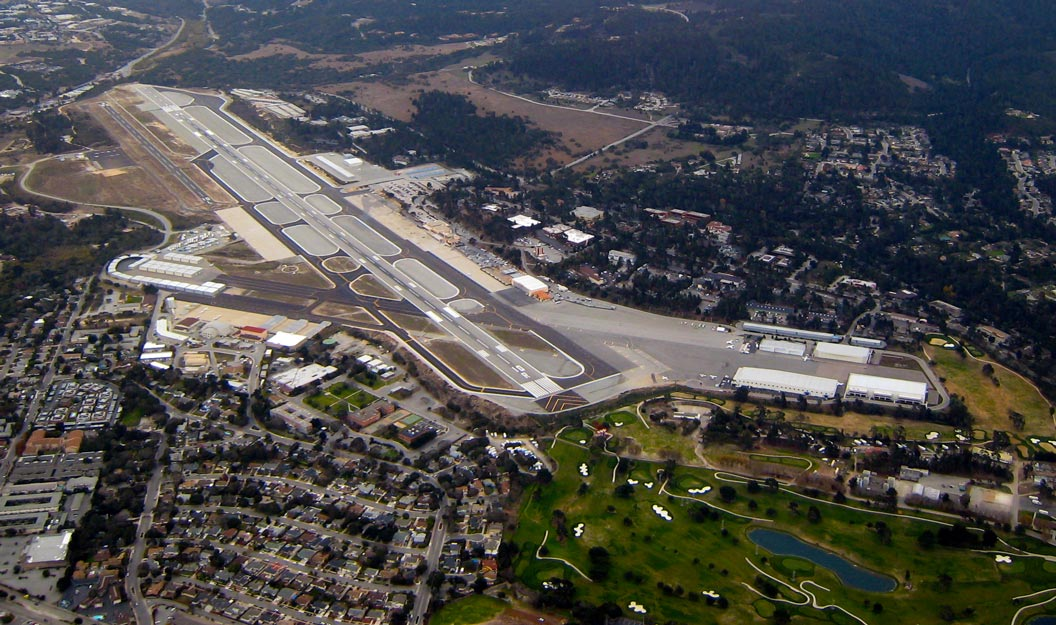 Aerial view of the Monterey regional Airport