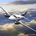 King Air C90GTx in flight - King Air Pro Line Fusion Avionics Certified, Piper M600 Near Certification