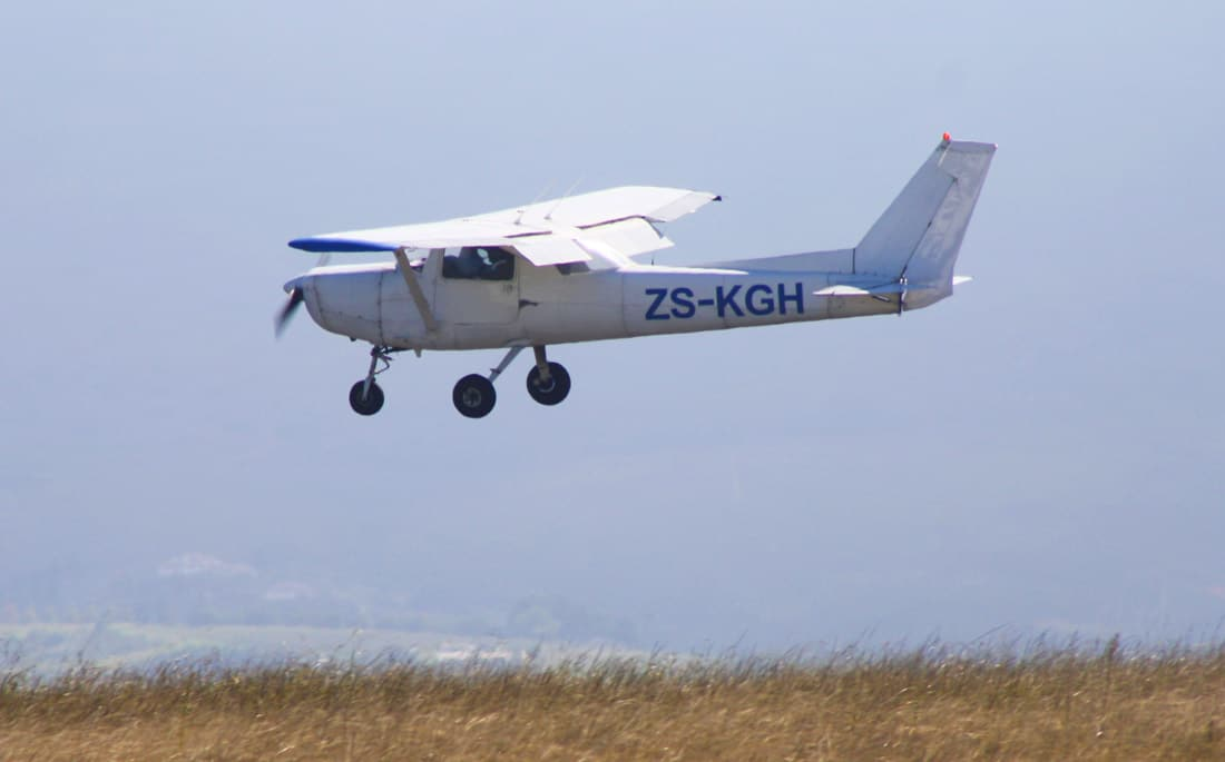 Cessna 152 flying in South Africa