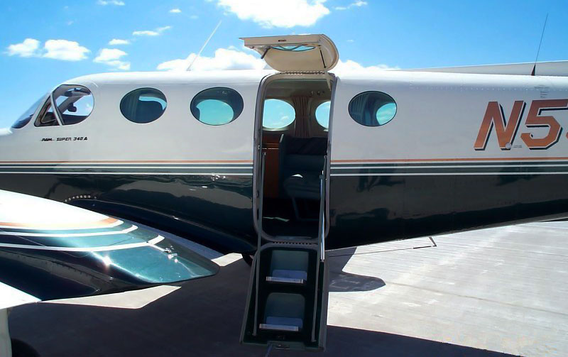 The door on a Cessna 340 A