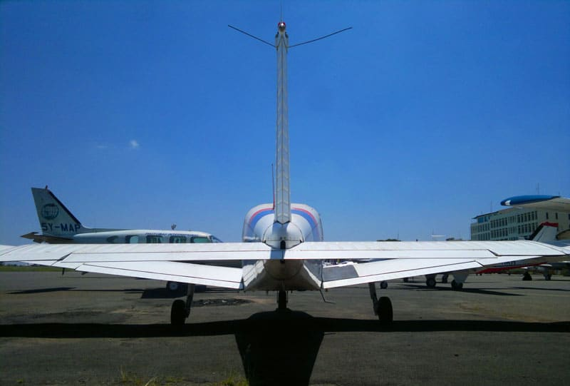 Piper PA-28 at an aviation school in Kenya