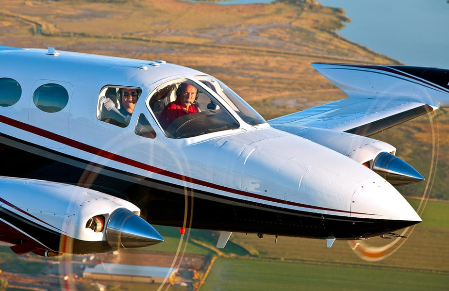Twin Engine Cessna 414 in flight - A Pilot's View On the FAA WINGS Safety Program and NASA Callback