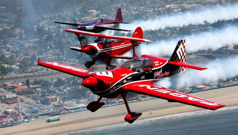 Aerobatic Planes over Monterey Area