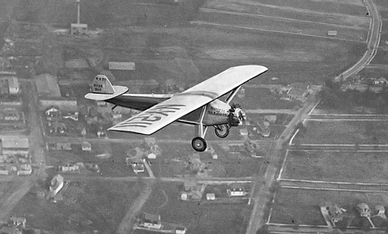 Charles Lindbergh's Spirit of St Louis, an important plane in aviation history